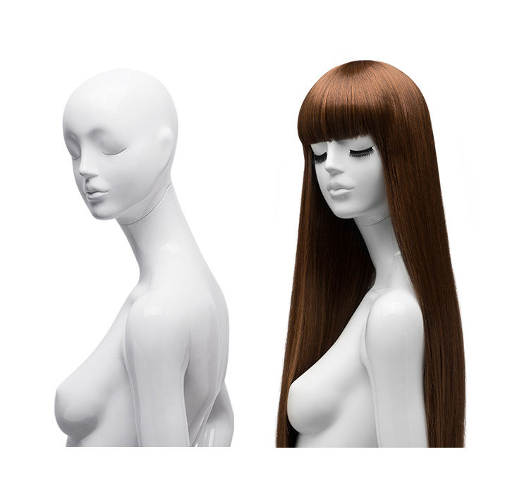 China longest natural pastel silky synthetic fiber women human hair straight wig with bang