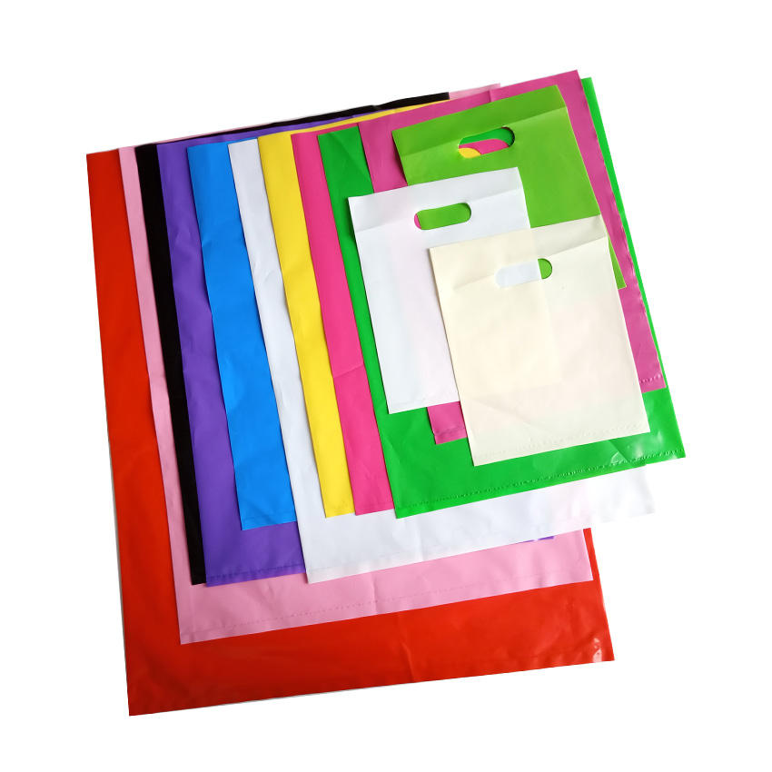 100% biodegradable HDPE plastic customized colorful different standard size shopping bag