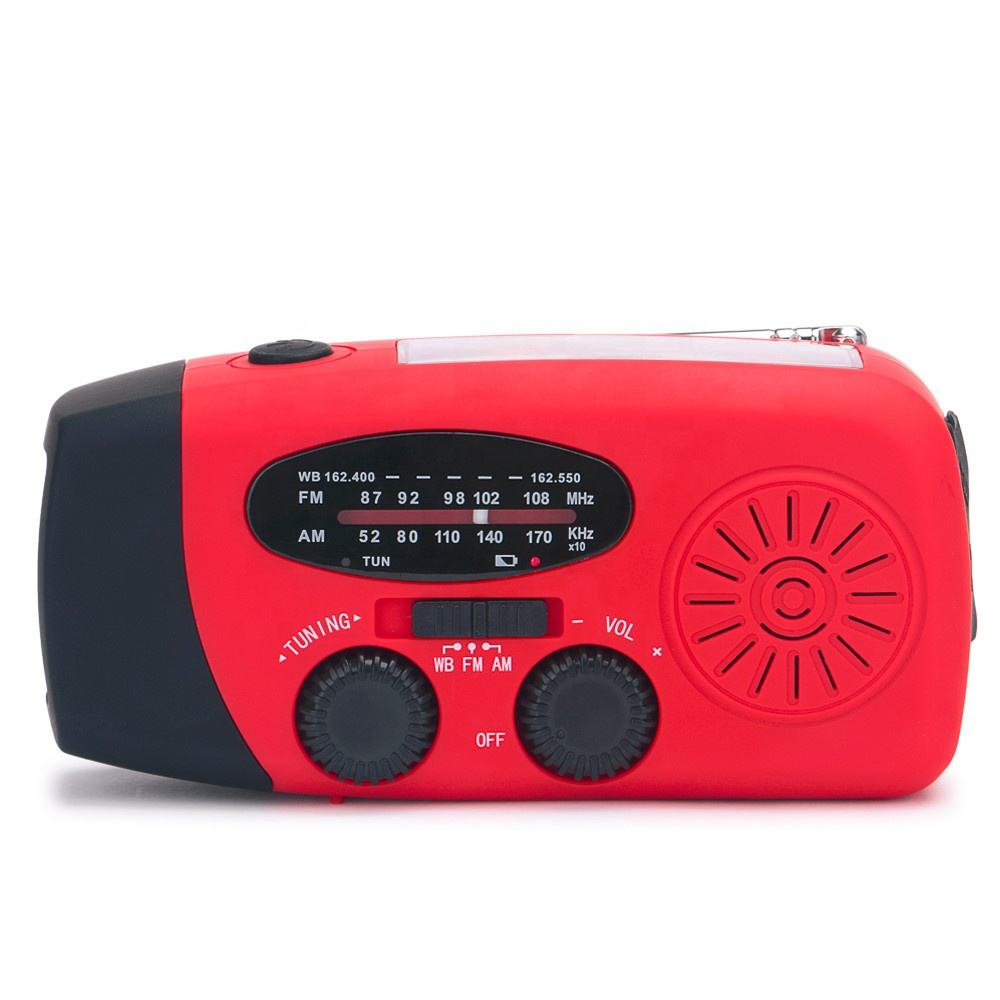 Upgrade AM FM NOAA Solar Dinamo WB Portable Radio dengan Senter Charger