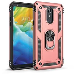 Magnetic finger ring stand 2 in 1 premium case for LG Stylo 5 protect back cover skin