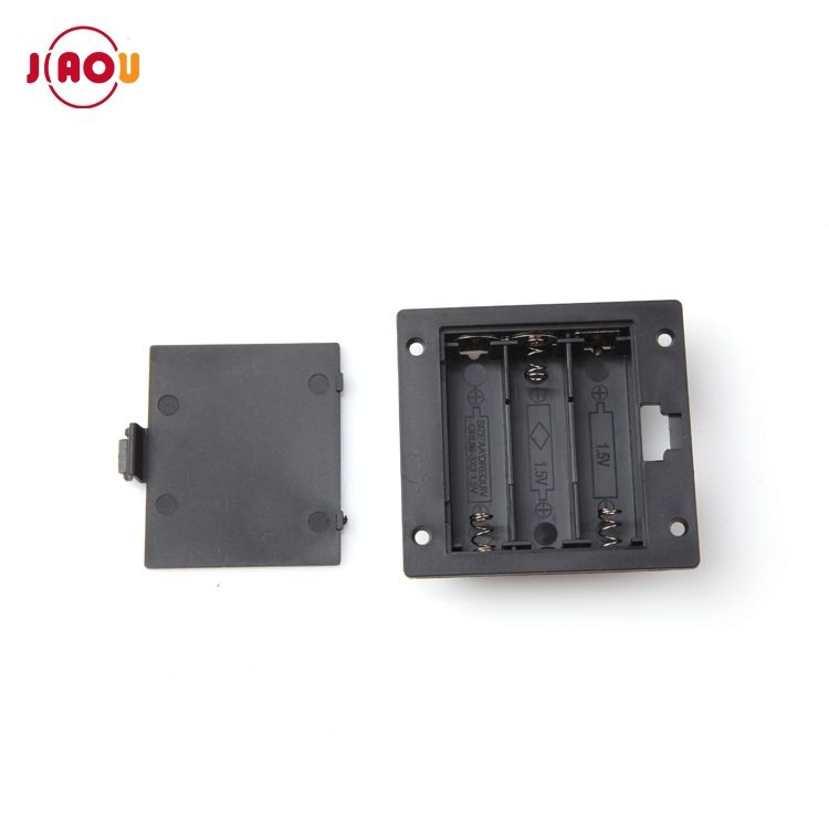 JIAOU 4.5V 3xAa Size Battery Holder Panel Mounted With Cover