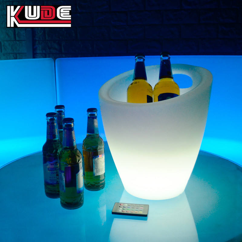 customized plastic lighting LED ice coolers for events