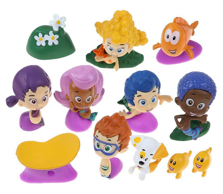 12pcs Bubble Guppies Mini Figures Cake Toppers Toys/ Kids Collectible Gifts