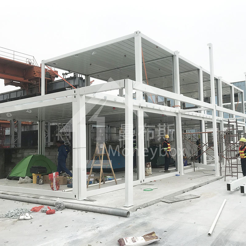 Factorization manufacturing quick assembly steel frame modular modern prefabricated building