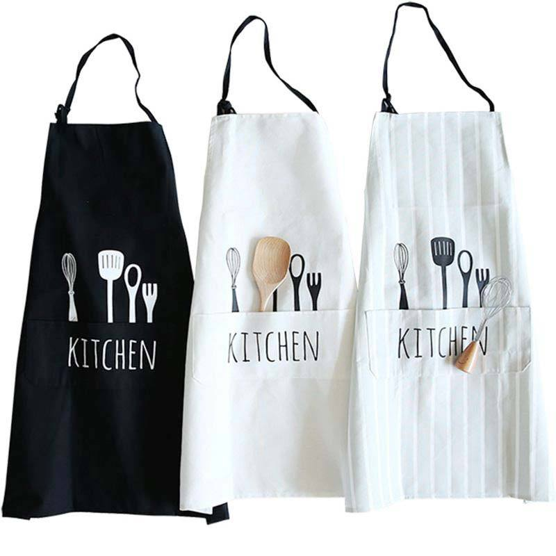 customized with logo natural cotton bulk wholesale aprons