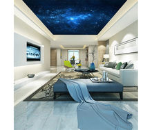 Dream Starry Blue Sky home decoration bedroom ceiling wallpaper for Commerce