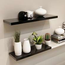 Promotional White Rectangular MDF Simple Floating Shelves in Indoor
