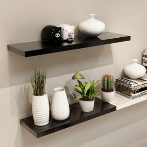 Promocional Rectangular blanco MDF Simple estantes flotantes en interiores