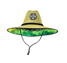 2019  Wholesale custom cheap America sombrero beach surf lifeguard straw hat with  camo underbrim print