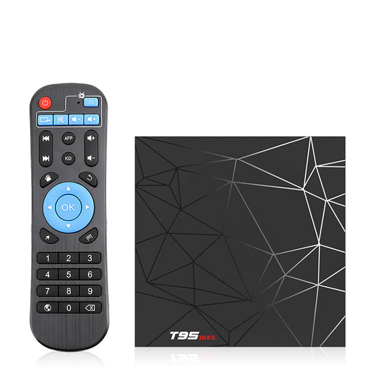T95 Max 6K Android 9.0 Smart TV Box 4GB 32GB Quad Core 3D films WIFI lecteur multimédia