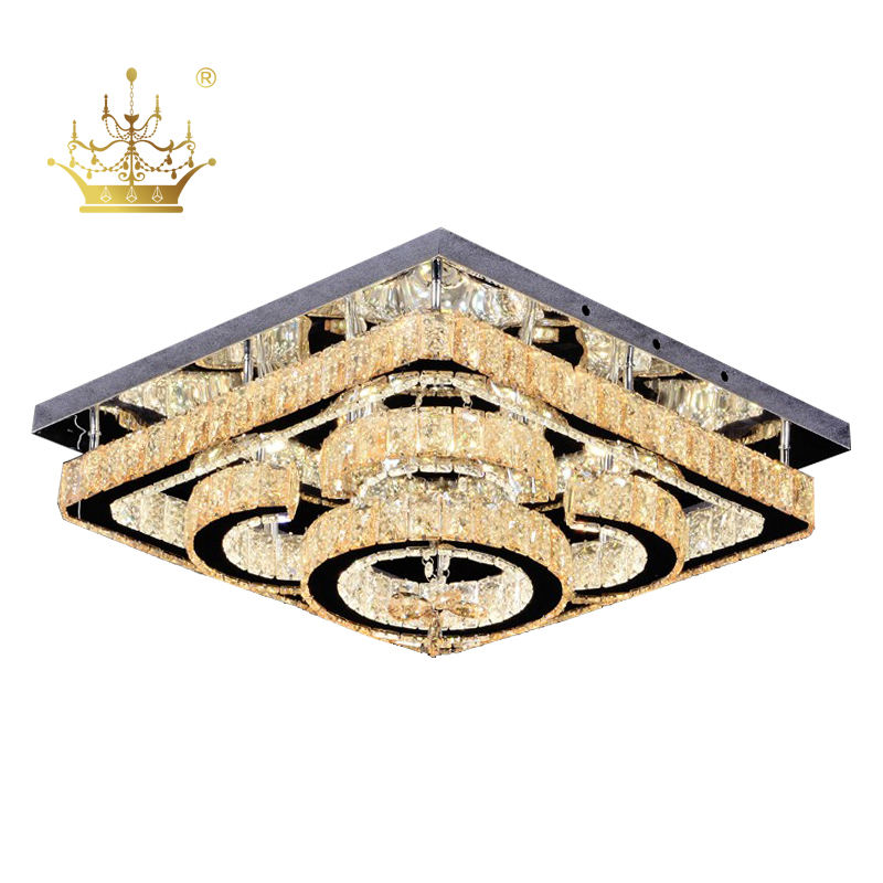 Outlet Trang Chủ Trang Trí <span class=keywords><strong>Chiếu</strong></span> <span class=keywords><strong>Sáng</strong></span> Cơ Sở Thép Không Gỉ Crystal Cover Flush Mount LED Chandelier <span class=keywords><strong>Đèn</strong></span> Trần SC7016