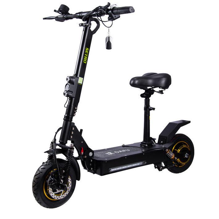 "10 ""elektrikli Katlanır Iki Tekerlekli Elektrikli 500 W Serin Spor Fermuar Kaykay Elektrikli Scooter"