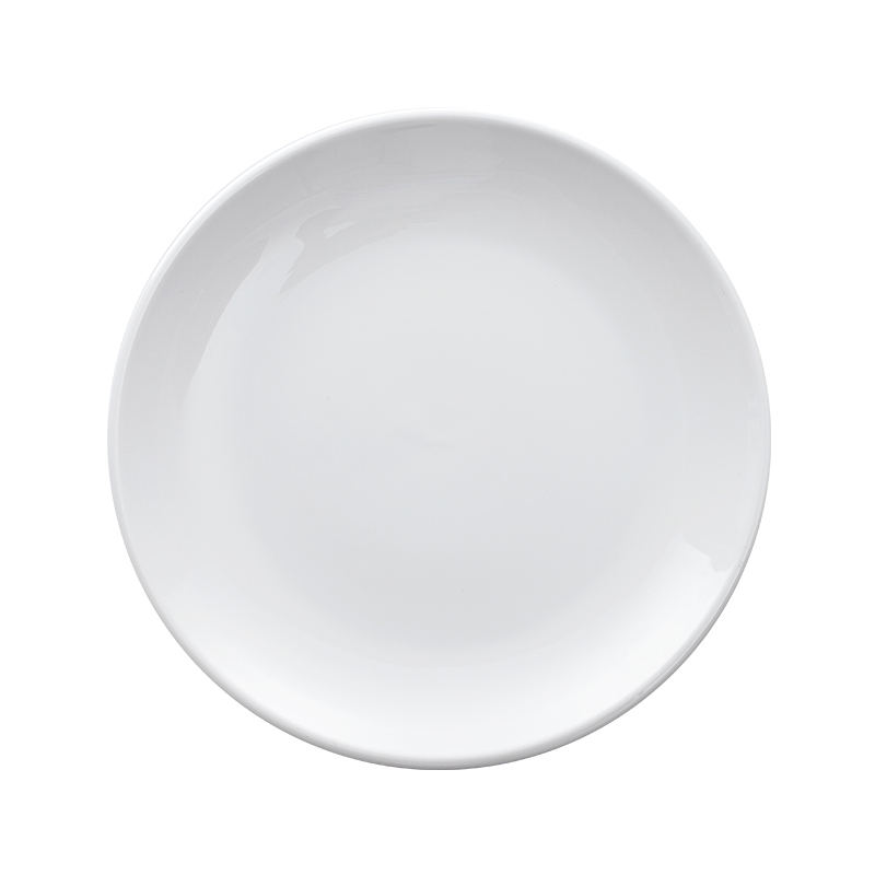 Hosen 28 Wholesale Customized Round Porcelain Salad Plate Set, Hot Sale China White Deep Ceramic Dinner P, Small Porcelain Dish/