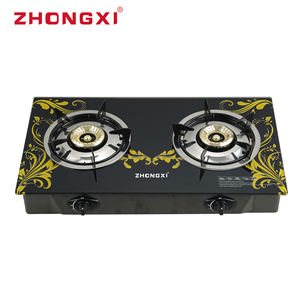cooker hob Tempered Glass Top 2 Burner cooktop gas Gas Stove