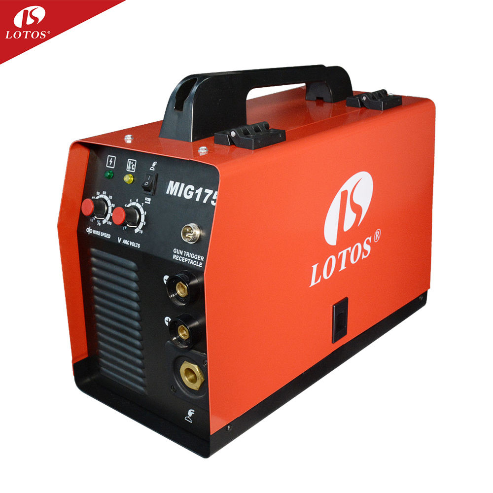 LOTOS MIG175 mig welder flux core welder co2 gas mig welding machineprice welding equipment welder mig