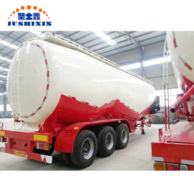 Hot sale Cheap Tri Axles 45CBM 55Tons W shape bulk cement tank tanker trailer for sale