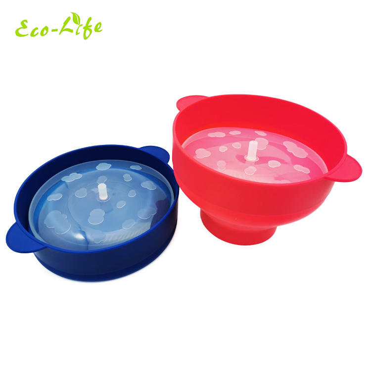 Custom logo printed high quality collapsible silicone microwave air popcorn maker