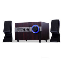 Super bass wooden speaker with home theater system 2.1 multimedia sound system speaker