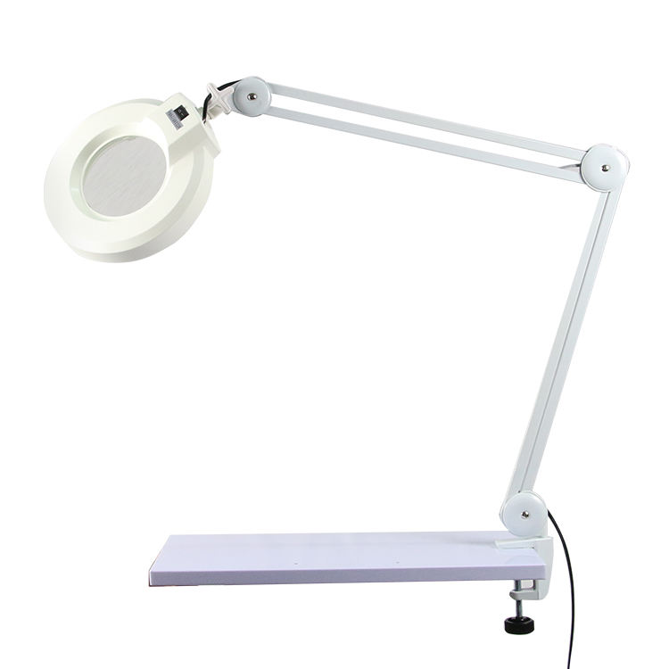 Esthetician spa magnifying lamp, beauty trolley with magnifying lamp
