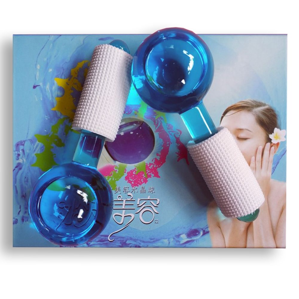 Low MOQ 2019 Hot Selling New Magic Globes Facial Cooling Ice Globes Water Wave Massage Ball For Face Factory Private Label
