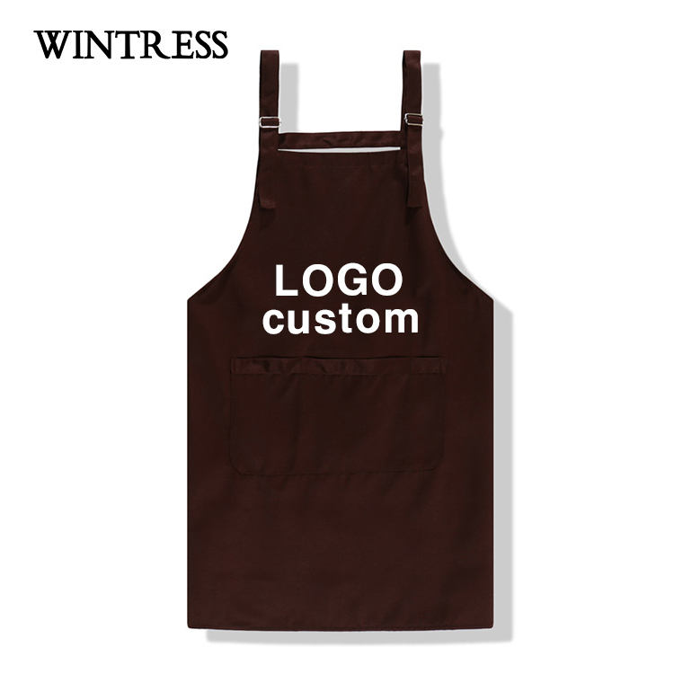 2019 New Arrival Wholesale custom printed women waitress apron 100% cotton apron cooking factory direct chef cheap kitchen apron