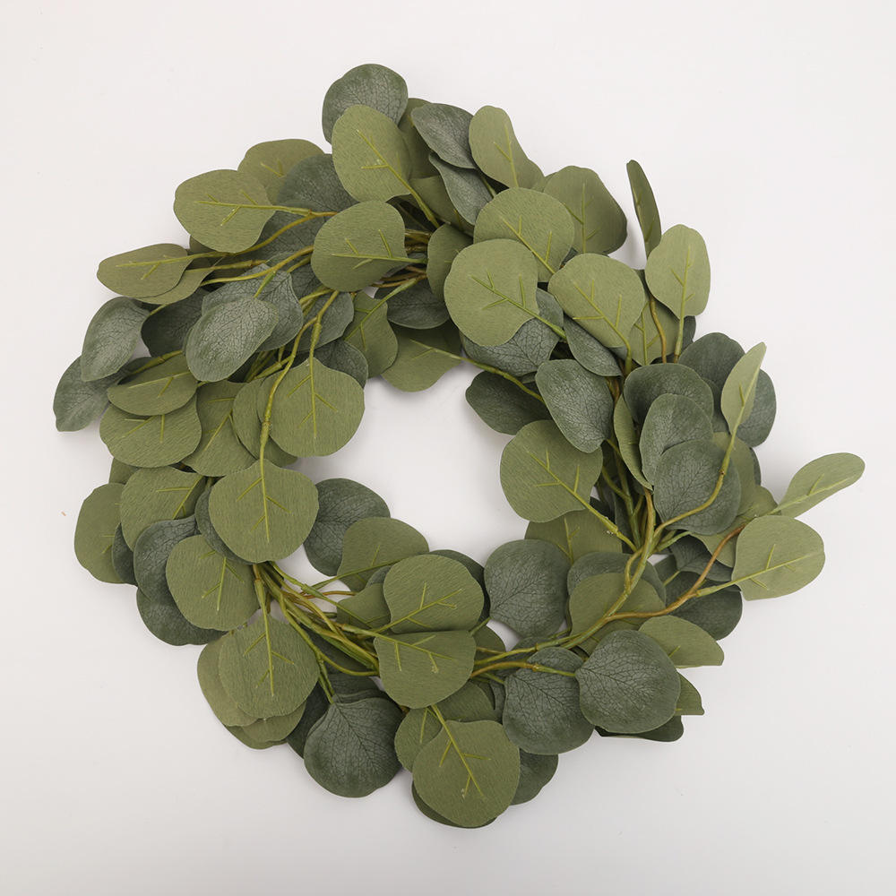 Amazon Hot Selling Artificial Garland Eucalyptus Vine Artificial Eucalyptus Garland