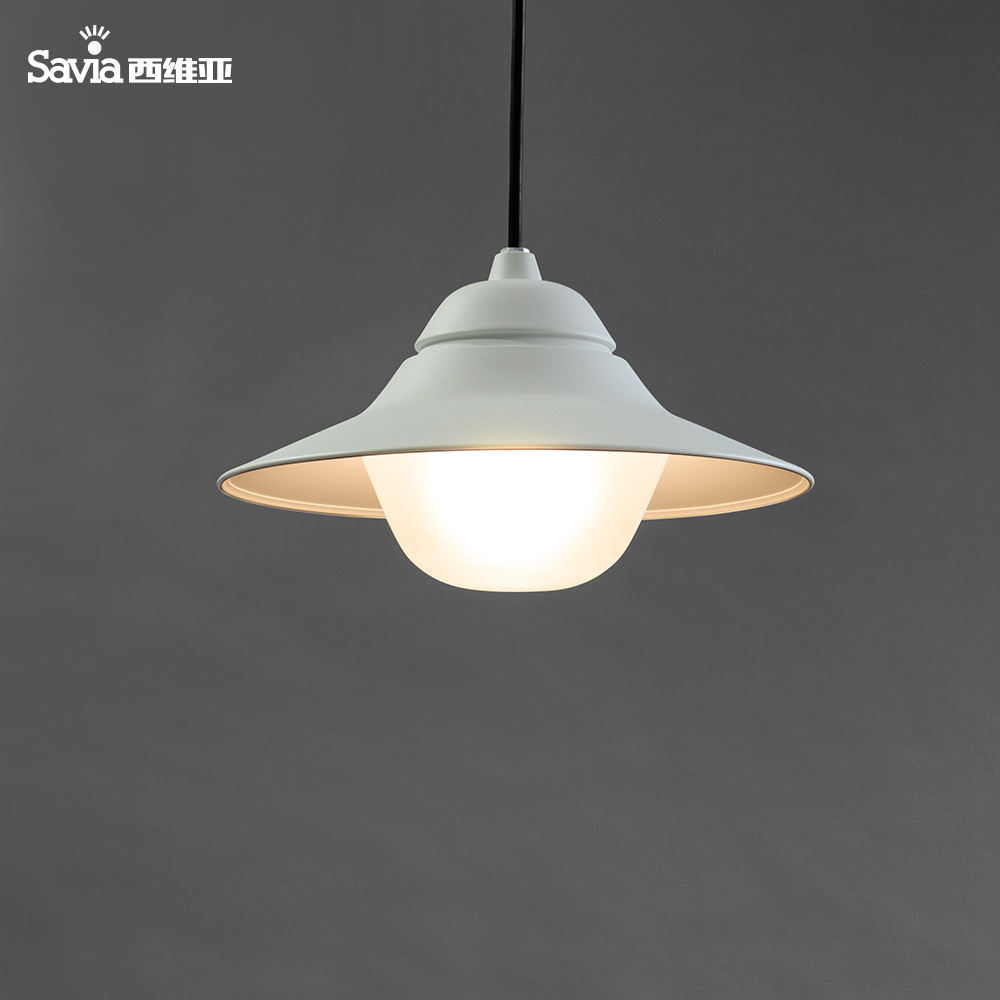 Savia modern garden porch/patio/balcony pendant lamp 220-240V E27 40W aluminium /glass IP44 waterproof outdoor pendant light