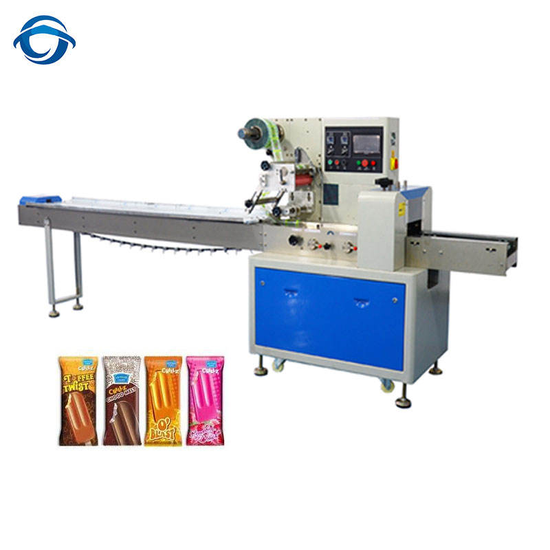 2018 Hot Selling Flow Pack Ice Cream Popsicle Packing Machine