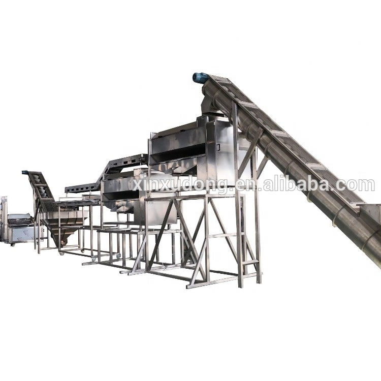 Automatic French fries line manufacturer frozen fries production line