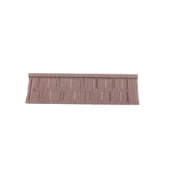Flat metal type stone coated roof tiles KR005