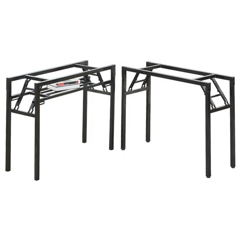 Factory Price Wholesale Folding Table Frame Metal Foldable Table Leg