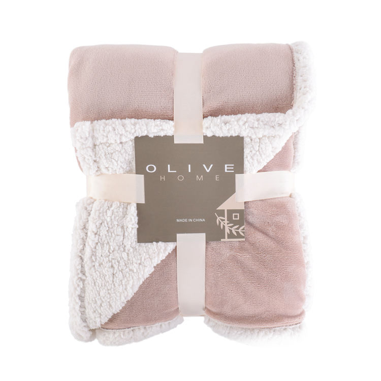 Lowest Price Customized Flannel Sherpa Lined Ultra Soft Warm Microplush Reversible Throw Blanket Plush Throw Blanket