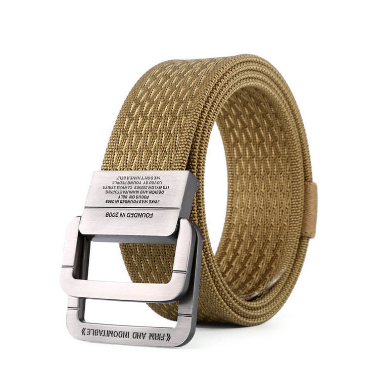 Fashion Fabric Military Army Tactical Textile Nylon Belt Double D Ring Buckle Mens