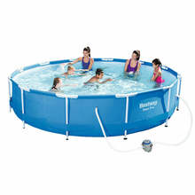Bestway 56416 wholesale adult steel pro frame pool Folding stable water game swim pool plastic swimming pool