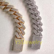 Diamond hiphop iced out cuban link chain