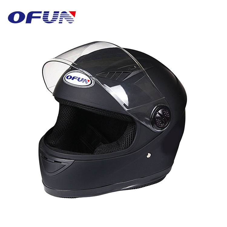 OFUN Hight Kwaliteit Flip-Up Mat Zwart Flip-Up Casque Motorhelm