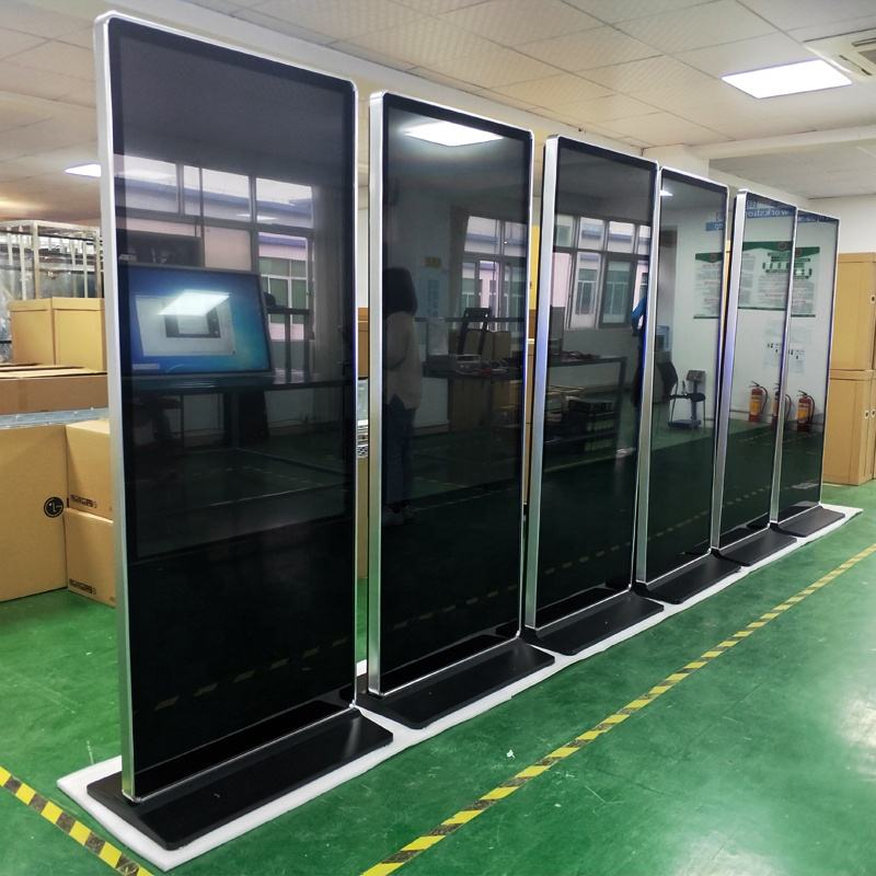 Floor Stand Digital Signage Kiosk Size 55Inch Touch Totem