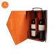 Custom Luxure PU Leather 2 Bottles Folding Wine Box