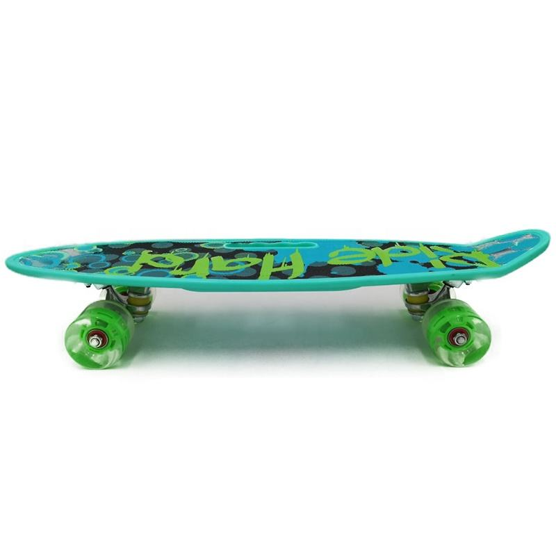 Blue color PP printable board detachable motor cheap mini skateboard
