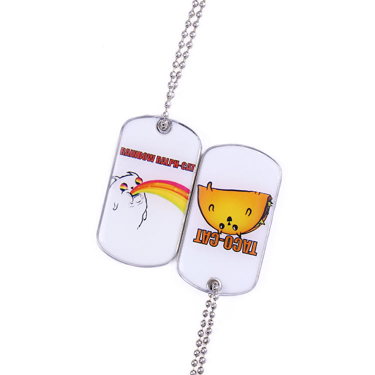 중국 manufacturer 도매 metal stainless steel dog tag 목걸이