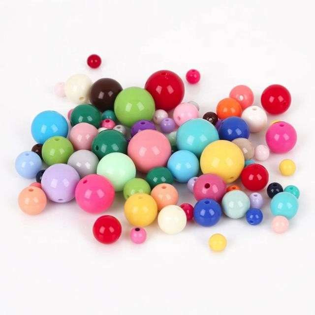 8mm/10mm/12mm/14mm/16mm/18mm/20mm red color Gumball Bubblegum Acrylic Solid Beads for Necklace Jewelry