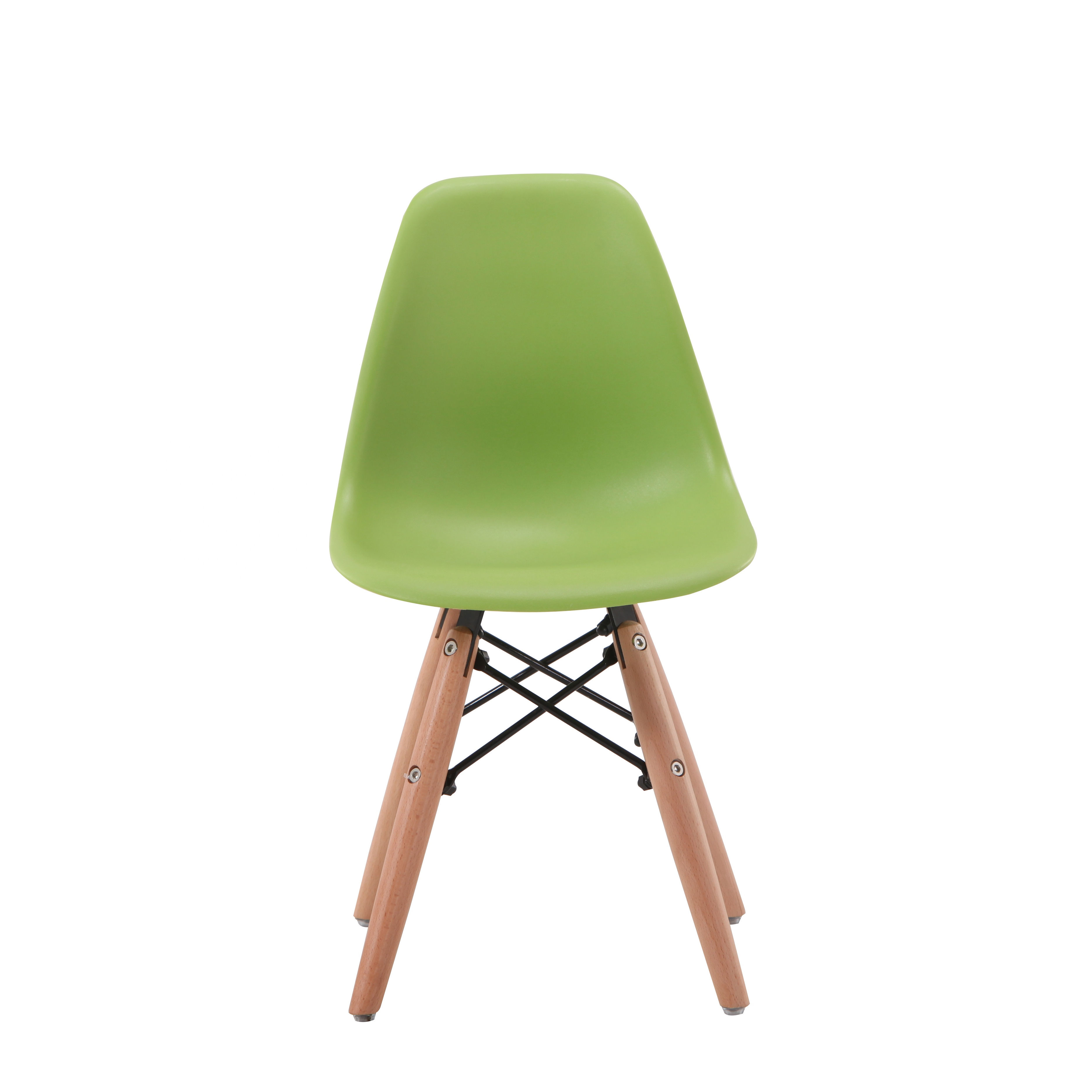 Modern Wooden Leg Dining Chairs Minimalist Computer Office Meeting Chair Casual Home Back Seat Coffee Shop PP Chair Furniture