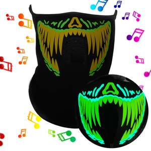 LED glow party mask sound activated EL mask using for halloween festival,night clubs