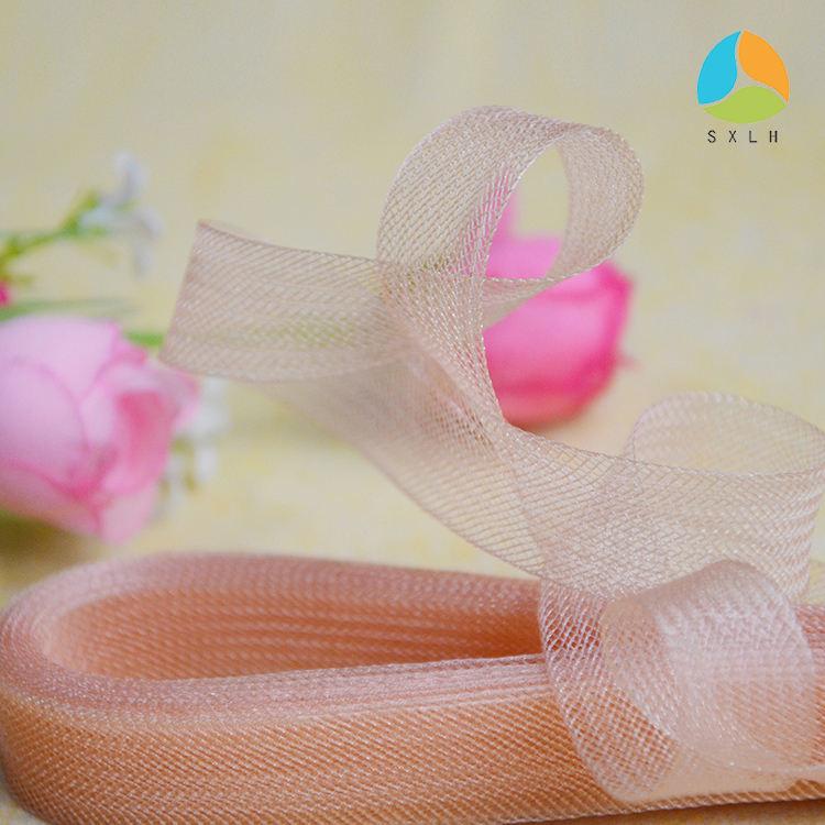 Crinoline horsehair braid trim wedding dress-insulation 3 inches 5 yard Ivory.