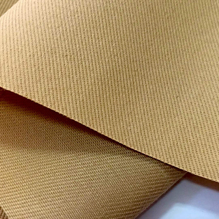 cotton 128*60 khaki twill fabric for school uniform pants