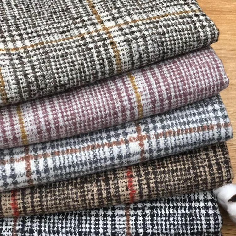 2019 NEWEST Wool Polyester tweed fabrics for jacket