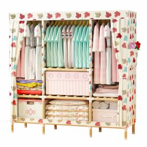 Colorful hot design cheap folding cloth assemble style plastic fabric wardrobe for women