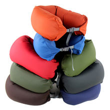 Micro beads folding neck support travel pillows