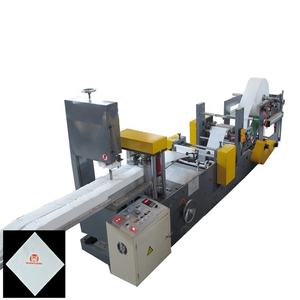 Fully automatic napkin paper soft tissue cutting making machine