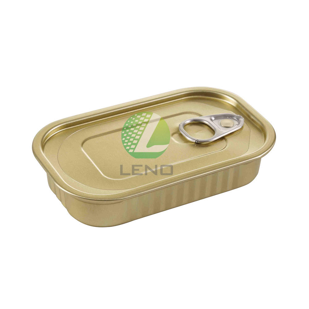 Hot sale aluminium F311 club can easy open end rectangle can food can for sardine or tuna fish